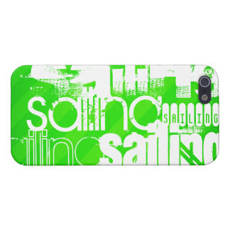 Sailing; Neon Green Stripes iPhone 5/5S Covers