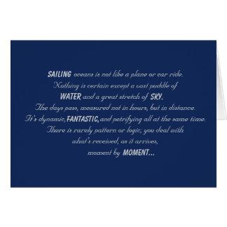 Sailing Oceans Poem Card
