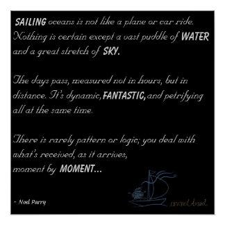 Sailing Oceans Poem Poster
