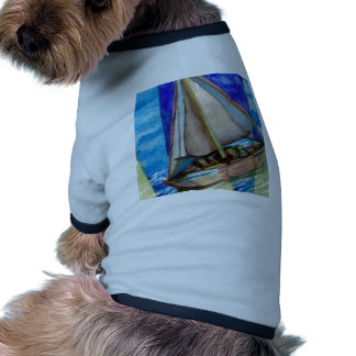 """Sailing Off The Edge of The Page""  CricketDiane Doggie Tee"