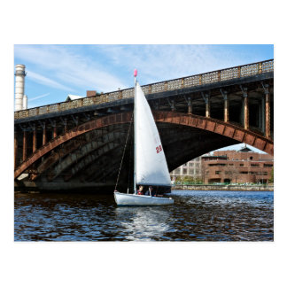 Sailing on Charles River Postcard