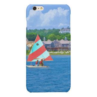 Sailing on Lake Huron Upper Michigan Glossy iPhone 6 Plus Case