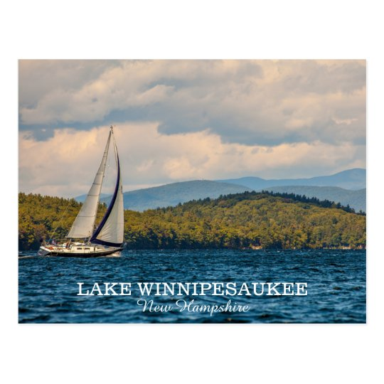 Sailing On Lake Winnipesaukee In New Hampshire Postcard