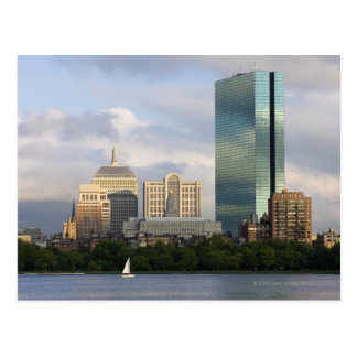 Sailing on the Charles River in Boston, Postcard