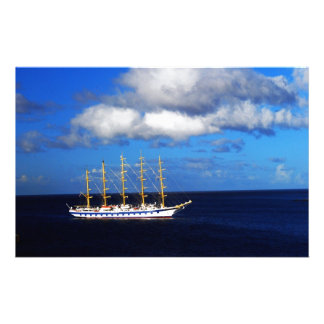 Sailing over the ocean custom stationery