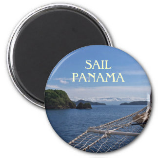 Sailing Panama Souvenir Photo Magnet