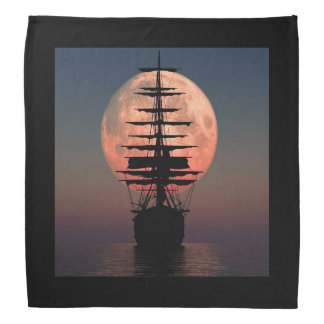 Sailing Pirate Moon Bandana