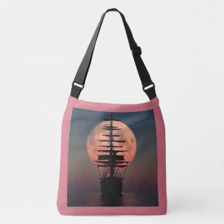 Sailing Pirate Moon Crossbody Bag