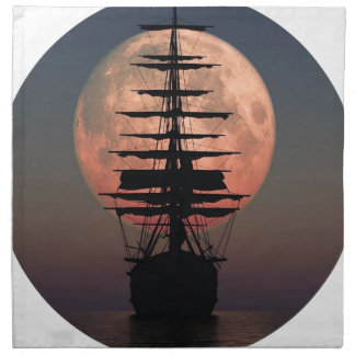 Sailing Pirate Moon Napkin