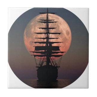 Sailing Pirate Moon Tile