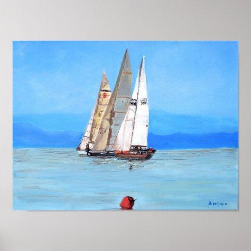 Sailing Regatta at Port Hardy -  Poster