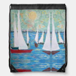 Sailing Regatta, Drawstring Backpack