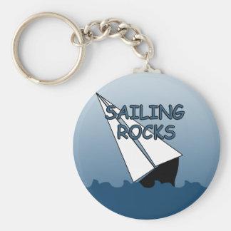 Sailing Rocks Basic Keychain