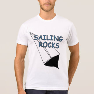 Sailing Rocks Sailboat Funny White T-shirt