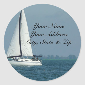 Sailing Round Sticker