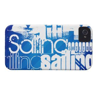 Sailing; Royal Blue Stripes iPhone 4 Case-Mate Case
