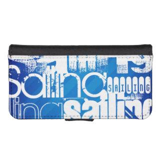 Sailing; Royal Blue Stripes Phone Wallet Case