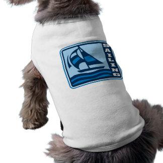 sailing sailboat logo graphic sleeveless dog shirt