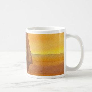 Sailing Sailboat Sunset Pretty Golden Sky Sails Coffee Mug