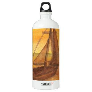 Sailing Sailboat Sunset Pretty Golden Sky Sails SIGG Traveller 1.0L Water Bottle