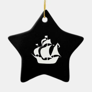 Sailing Ship Ceramic Ornament