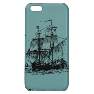 Sailing ship cover for iPhone 5C