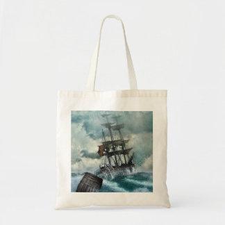 Sailing Ship in Storm Illustration