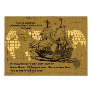 Sailing Ship Invitation