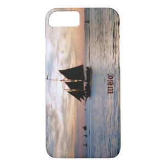Sailing Ship on Calm Sea at Sunset Seascape Design iPhone 8/7 Case