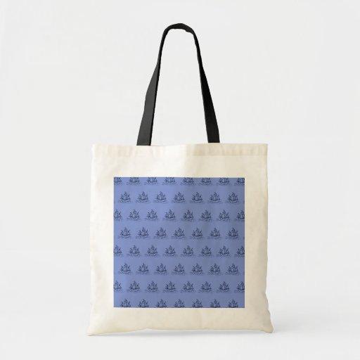 Sailing Ship Pattern. Mid Blue. Bag