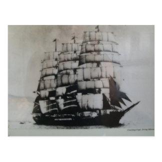 Sailing ship Peking at sea Postcard