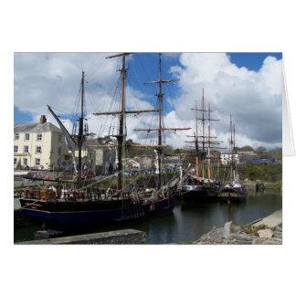 Sailing Ships Charlestown Harbour Cornwall Photo Card