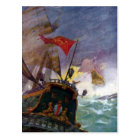 Sailing Ships in a Stormy Sea Postcard