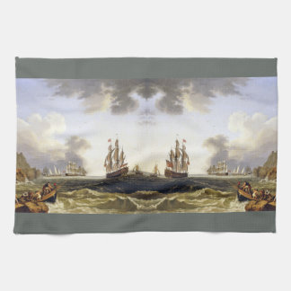 Sailing Ships Ocean Italy Coast Kitchen Towel