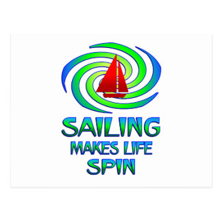 Sailing Spins Postcard