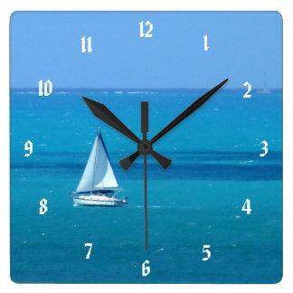 Sailing Square Wall Clock