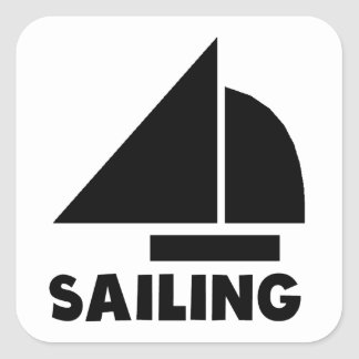 Sailing Square Stickers