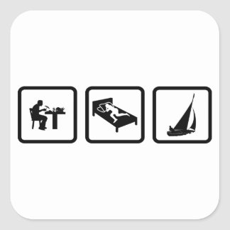 Sailing Square Stickers