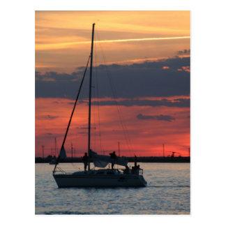 Sailing @ Sunset Postcard
