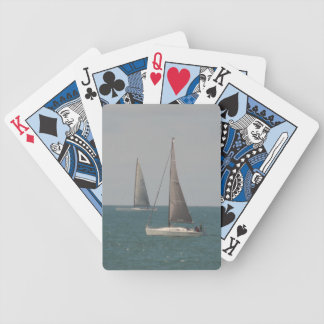 Sailing the Ocean Blue Bicycle Playing Cards