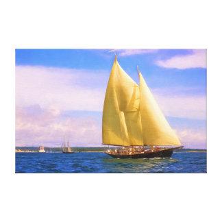 Sailing The Sound Canvas Print