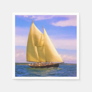 Sailing The Sound Disposable Serviette