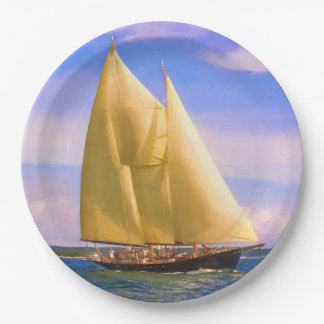 Sailing The Sound Paper Plate