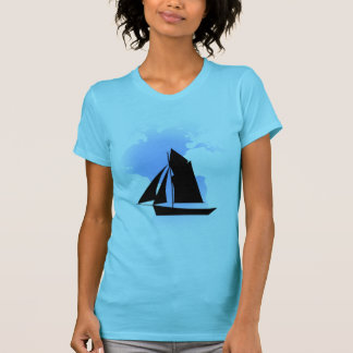 Sailing the World Women's Aqua Fine Jersey T-Shirt