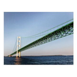 Sailing Under The Mackinac Bridge Postcard