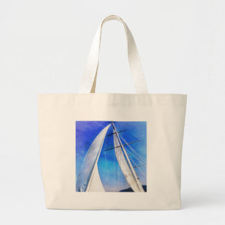 Sailing Unties The Knots Of My Mind pill Large Tote Bag