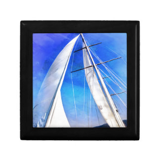 Sailing Unties The Knots Of My Mind pill Small Square Gift Box