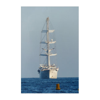Sailing vessel acrylic wall art