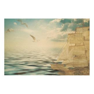 Sailing-vessel Wood Wall Art