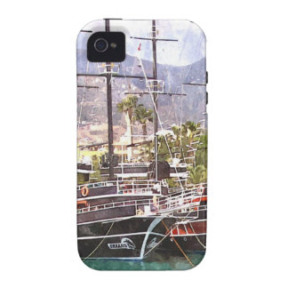 Sailing vessels in the port vibe iPhone 4 case